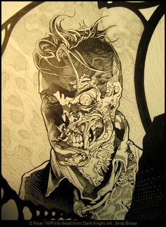 Two Face- Ink - Andy Brase [deviantART]