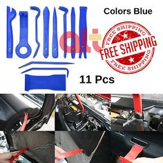 12 pcs Auto Trim Removal Tool Kits Door Clip Panel for Car Dash Radio Audio Installer Pry Tool Plastic Trim, Car Tools, Dongguan, Removal Tool, Panel Doors, Tool Kit, Audio, How To Remove