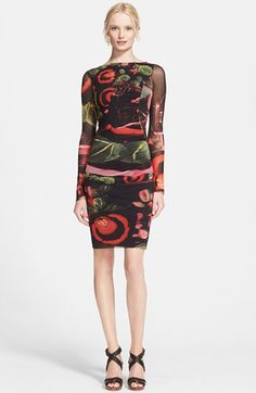Jean Paul Gaultier Garden Print Long Sleeve Tulle Dress available at #Nordstrom