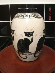 Art Deco Vase by Keralouve - La Louvière, Belgium