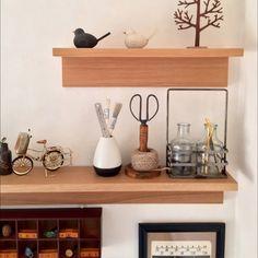 かぎ針/ガラスボトル/ストリングタイディ/壁に付けられる家具/無印良品…などのインテリア実例 - 2015-01-20 06:30:51 | RoomClip(ルームクリップ)