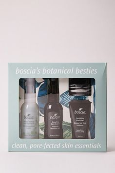 DetailsWhat it is: A 4 - piece skincare kit that promotes healthy and radiant skin. Solution for: - Acne/Blemishes - Dryness/Uneven skin texture - Oiliness - Pores/BlackheadsWant to know more…You'll never join another skincare squad after using boscia's botanical besties skincare kit. The Luminizing Black Charcoal Mask is a peel - off mask that boosts skin clarity and minimizes the appearance of pores, while removing impurities and controlling excess oil. The Makeup - BreakUp Cool Cleansing Oil Black Charcoal Mask, Black Peel Off Mask, Polyvinyl Alcohol, Acne Blemishes, Uneven Skin, Cleansing Oil