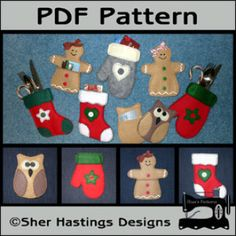 Christmas Gift Card Holders - Silverware Holders   Sewing Pattern   YouCanMakeThis.com