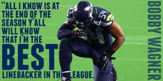 The NFL's Best Linebacker... THAT is what's on @BWagz54's mind. Seahawks Football, Seattle Seahawks, Football Team, Football Cheerleaders, Cheerleading, Bobby Wagner, Supernanny, 12th Man, Football Season