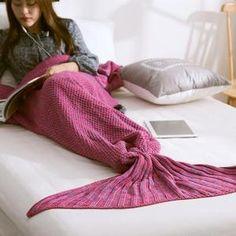 Soft Knitted Mermaid Tail Blanket Yarn Handmade Crochet Mermaid Bag Blanket for Adult Kids Throw Bed Wrap Sleeping Throw Blanket Snuggle Blanket, Sofa Blanket, Blanket Yarn, Knitted Blankets, Blanket Crochet, Throw Blankets, Cuddle, Knitted Mermaid Tail Blanket, Crochet Mermaid Tail