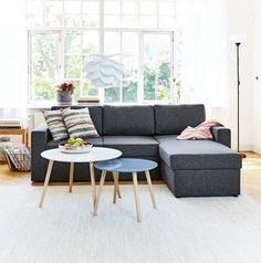 Sofa z szezlongiem HAVDRUP ciemnoszara | JYSK