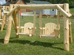Very unique log swing... yes, we can ship it to you!