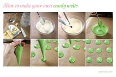 candy homemade | Break the chocolate into its pieces. Melt the white chocolate in ...
