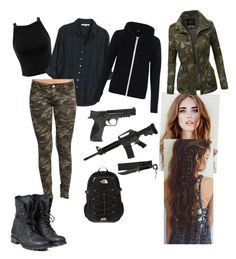 """survival outfit (5th wave)"" by pitbull-vb on Polyvore featuring Miss Selfridge, Xirena, PLDM by Palladium, Smith & Wesson, The North Face, LE3NO, Wet Seal, women's clothing, women and female"