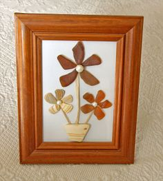Sea Glass. Sea Pottery and Shell Frame With Potted by oceansbounty, $25.00