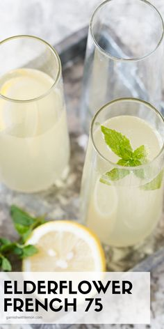 Bubbles make every occasion special, but this Elderflower French 75 takes cocktails to a whole new level! #elderflower #french75 #prosecco #cocktails #drinks #happyhour #brunch Prosecco Cocktails, Fun Cocktails, Fun Drinks, Elderflower Drink, Drinks Alcohol Recipes, Drink Recipes, French 75 Cocktail, Easy Weekday Meals, Best Cocktail Recipes