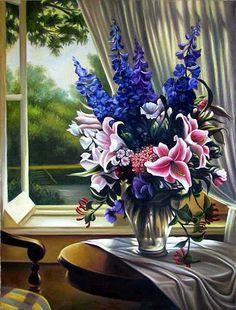 Igor Levashov. Flowers at the window