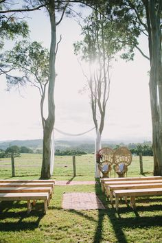 Natural Bench Seats - - For Hire at The Wedding Shed for your #ByronBay #Wedding