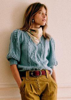 Transport Routier, Style Parisienne, Black Brick, Union Made, Black Khakis, Parisian Style, Pull, Blue Denim, Knitwear