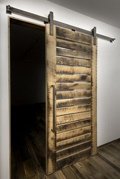 Barn doors today are becoming part of interior decoration in many houses because they are stylish. When building a barn door on your own, barn door hardware kit Barn Door Track System, Track Door, Exterior Barn Doors, Barn Door Pantry, Hanging Barn Doors, Barn Door Designs, Sliding Barn Door Hardware, Sliding Doors, Rustic Doors