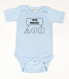 #Math #geek #nerd onesie You're Pointless Blue by geeklingdesigns on #Etsy, $18.00