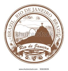 Grunge rubber stamp with the statue of the Christ the Redeemer and text Rio de Janeiro, vector illustration