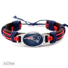 Please Share This Offer New England Patroits Leather Cuff Bracelet…