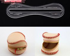 Leather Coin Purse, Change Bag Acrylic Template - 1 size for choose, Leathercraft Pattern (A013) BBX-29