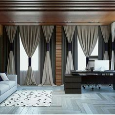 64 trendy bedroom curtains with blinds interior design Bedroom Curtains With Blinds, Living Room Decor Curtains, Modern Curtains, Diy Curtains, Window Blinds, Livingroom Curtain Ideas, Neutral Curtains, Ceiling Curtains, Vintage Curtains