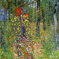 Flowers by Gustav Klimt