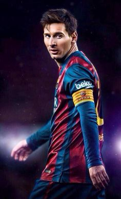 """Leo Messi, star forward for FC Barcelona, widely c onsidered the best soccer player in the history of the sport, and currently Argentina's most famous citizen. """"Messi is a genius. Fc Barcelona, Barcelona Catalonia, Good Soccer Players, Football Players, Messi 2015, Argentina National Team, Messi Photos, Messi Soccer, Alphabet"""