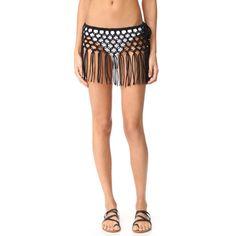 PilyQ Macrame Skirt ($145) ❤ liked on Polyvore featuring skirts, midnight, sheer skirt, crochet skirts, macrame skirt, transparent skirt and see-through skirts