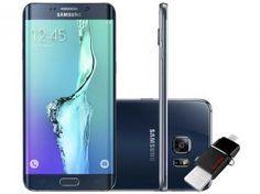 "Smartphone Samsung Galaxy S6 Edge Plus 32GB 4G - Câm. 16MP + Selfie 5MP Tela 5.7"" + Dual Drive 64GB"