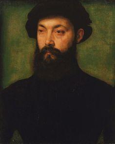 Corneille de Lyon  Portrait of a Man, oil on wood panel