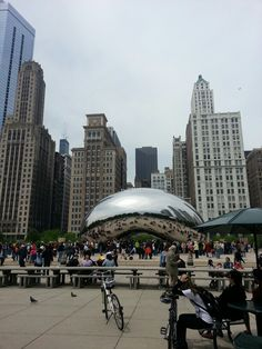 """#Chicago when you plan your trip you must visit Millenium Park and see """"the bean"""". The Park hs MANY other things to see as well, pack a picnic."""