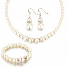 Tomtosh 2016 New Simulated Pearl Wedding Jewelry Set Crystal Necklace Fine Jewelry Party Women Beads Bridal Earrings Accessories Features: Tomtosh Star Jewe Fashion Bracelets, Fashion Jewelry, Women Jewelry, Fashion Earrings, Fashion Fashion, Wedding Jewelry Sets, Jewelry Party, Wedding Accessories, Pearl Jewelry