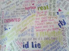 My favorite Taylor Swift lyrics <3 :)