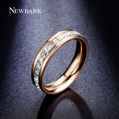 Find More Rings Information about NEWBARK Engagement Rings 18K Gold Plated With…