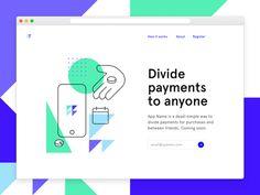 Landing Page - via @designhuntapp