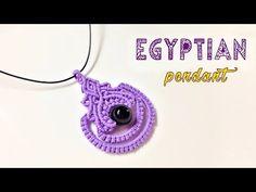 Macrame tutorial for pendant: The Egyptian style - elegant DIY craft idea - Bing video