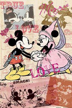 Disney's Mickey & Minnie:) Arte Do Mickey Mouse, Mickey And Minnie Love, Mickey Mouse And Friends, Disney Mickey Mouse, Vintage Mickey Mouse, Mickey Mouse Wallpaper, Disney Phone Wallpaper, Disney Images, Disney Art