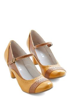 Refined Your Purpose Heel in Monochrome | Mod Retro Vintage Heels | ModCloth.com