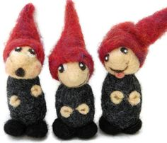 Needle Felted Gnomes  Made to Order by heartfeltpassion on Etsy, $55.00