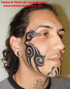 Stylish Tribal Tattoos On Face And Arms Real Photo Pictures inside The Most Stylish along with Interesting tattoo on Face intended for Tattoo Inspire Tribal Face Tattoo, Girl Face Tattoo, Face Tattoos, Tribal Tattoos, Girl Tattoos, Tattoos For Guys, Tatoos, Adult Face Painting, Bicep Tattoo