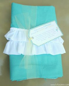Ruffled pillowcase.  These are girl's camp ideas, but some could be applied for AD