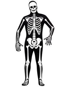 Skeleton Zentai Full Body Suit Mens Costume