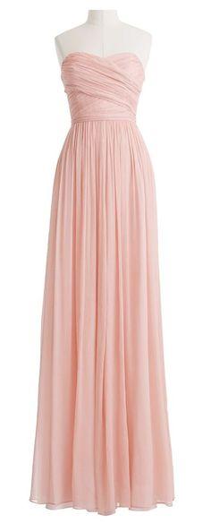 Lovely & beautiful long dress #pink #long #chiffon #dress