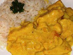 Emincé de poulet au curry à ma façon