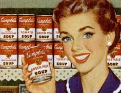 Campbell's Green Pea.. Tomato Soup..Chicken Noodle..we ate them every week!