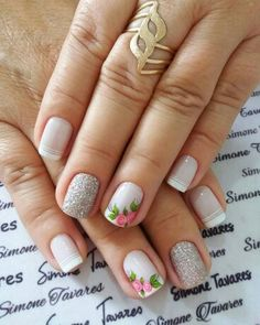 How To Do Nails, Fun Nails, Pretty Nails, Short Nail Manicure, Manicure And Pedicure, Cruise Nails, Short Nails Art, Bridal Nails, Classy Nails
