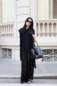 street style ming xi. dark subtle fashion