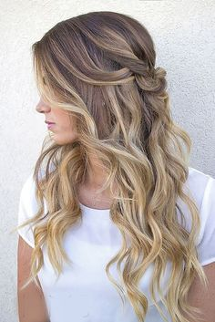Modish Ombre Wedding Hairstyles ❤ See more: http://www.weddingforward.com/ombre-wedding-hairstyles/ #weddings