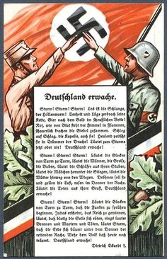 "Nazi propaganda ""Deutschland Erwache"" (Germany Awake)"