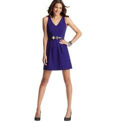Loft - LOFT Dresses - Ponte Pleated Sleeveless Dress
