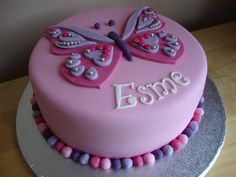 Image result for pink and green fondant cakes